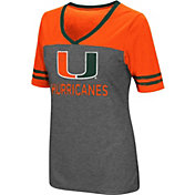 Colosseum Women's Miami Hurricanes Grey McTwist Jersey T-Shirt