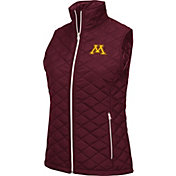 Colosseum Women's Minnesota Golden Gophers Maroon Elite Quilted Full-Zip Vest