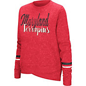 Colosseum Women's Maryland Terrapins Red Birdie Fleece Pullover