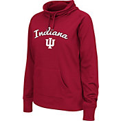 Colosseum Women's Indiana Hoosiers Crimson Funnel Neck Fleece Pullover
