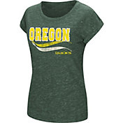 Colosseum Women's Oregon Ducks Green Speckled Yarn T-Shirt