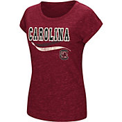 Colosseum Women's South Carolina Gamecocks Garnet Speckled Yarn T-Shirt
