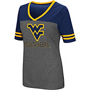 Colosseum Women's West Virginia Mountaineers Grey McTwist Jersey T-Shirt