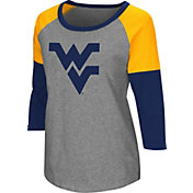 Colosseum Women's West Virginia Mountaineers Grey Raglan T-Shirt