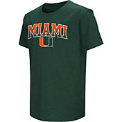Colosseum Youth Miami Hurricanes Green Dual Blend T-Shirt