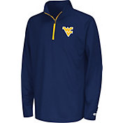 Colosseum Youth West Virginia Mountaineers Blue Draft Performance Quarter-Zip