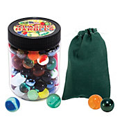 Channel Craft Marbles Jar with Color Canvas Pouch