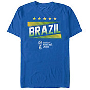 Fifth Sun Men's FIFA 2018 World Cup Russia Brazil Slanted Royal T-Shirt