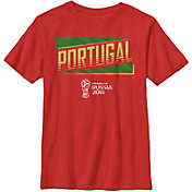 Fifth Sun Youth FIFA 2018 World Cup Russia Portugal Slanted Red T-Shirt