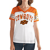 G-III For Her Women's Oklahoma State Cowboys White/Orange Free Agent V-Neck T-Shirt