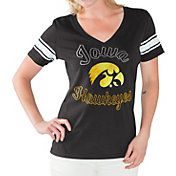 G-III For Her Women's Iowa Hawkeyes Black First Pick V-Neck T-Shirt