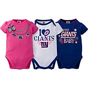 Gerber Infant Girl's New York Giants 3-Piece Onesie Set
