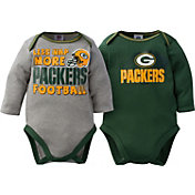 Gerber Infant Green Bay Packers 2-Piece Long Sleeve Onesie Set