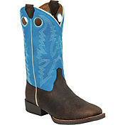 Justin Kids' Chocolate Brown Buffalo Bent Rail Western Boots