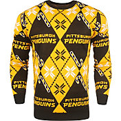 KLEW Men's Pittsburgh Penguins Candy Cane Ugly Sweater