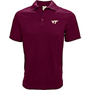 Levelwear Men's Virginia Tech Hokies Maroon Helium Polo