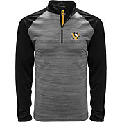 Levelwear Men's 2017 NHL Stanley Cup Champions Pittsburgh Penguins Performance Black Quarter-Zip Top