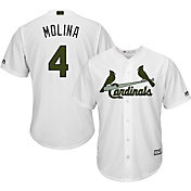 Majestic Men's Replica St. Louis Cardinals Yadier Molina #4 2017 Memorial Day Cool Base Jersey