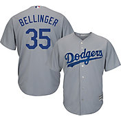 Majestic Men's Replica Los Angeles Dodgers Cody Bellinger #35 Cool Base Alternate Road Grey Jersey