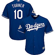 Majestic Men's 2017 World Series Replica Los Angeles Dodgers Justin Turner Cool Base Alternate Royal Jersey