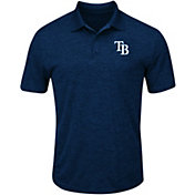 Majestic Men's Tampa Bay Rays Cool Base Navy Polo