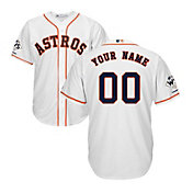 Majestic Men's Custom 2017 World Series Champions Replica Houston Astros Cool Base Home White Jersey