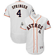 Majestic Men's 2017 World Series Champions Authentic Houston Astros George Springer Flex Base Home White On-Field Jersey