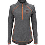 Majestic Women's San Francisco Giants Cool Base Grey Half-Zip Pullover