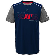 Majestic Youth Atlanta Braves Cool Base Club Series Navy Performance T-Shirt