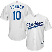 Majestic Youth Replica Los Angeles Dodgers Justin Turner #10 Cool Base Home White Jersey