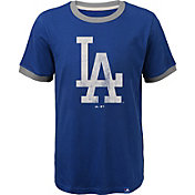 Majestic Youth Los Angeles Dodgers Ringer Royal T-Shirt