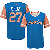 Majestic Youth Miami Marlins Giancarlo Stanton 'Cruz' MLB Players Weekend Jersey Top