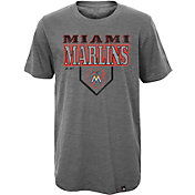 Majestic Youth Miami Marlins Heirloom Grey T-Shirt