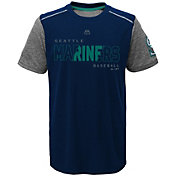 Majestic Youth Seattle Mariners Cool Base Club Series Navy Performance T-Shirt