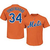 Majestic Youth New York Mets Noah Syndergaard #34 Orange T-Shirt