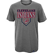 Majestic Youth Cleveland Indians Heirloom Grey T-Shirt