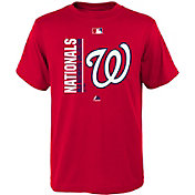 Majestic Youth Washington Nationals Authentic Collection Red T-Shirt