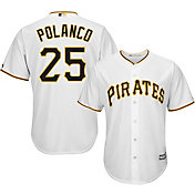 Majestic Youth Replica Pittsburgh Pirates Gregory Polanco #25 Cool Base Home White Jersey