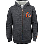 Majestic Youth Baltimore Orioles Winning Streak Black Full-Zip Hooded Fleece