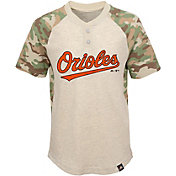 Majestic Youth Baltimore Orioles Raglan Camo Base Stealer T-Shirt