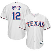Majestic Youth Replica Texas Rangers Rougned Odor #12 Cool Base Home White Jersey