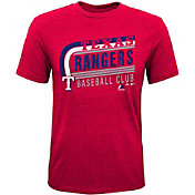 Majestic Youth Texas Rangers Tri-Blend Curveball Red T-Shirt