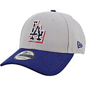New Era Men's Los Angeles Dodgers Americana 9Forty Grey Adjustable Hat