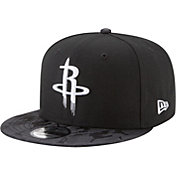 New Era Men's Houston Rockets 9Fifty Black Camo Adjustable Snapback Hat