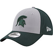 New Era Men's Michigan State Spartans Grey/Green The League Blocked 9FORTY Adjustable Hat