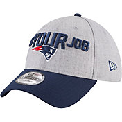 New Era Men's New England Patriots 2018 NFL Draft 39Thirty Stretch Fit Grey Hat