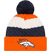 New Era Women's Denver Broncos Layered Up Pom-Top Knit Hat