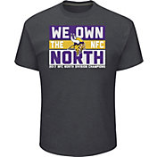 Men's Minnesota Vikings NFC North Division Champs Grey T-Shirt