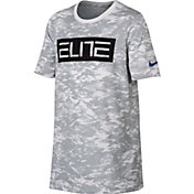 Nike Boys' Dri-FIT Elite Camo Printed T-Shirt