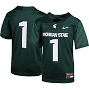 Nike Boys' Michigan State Spartans #1 Green Game Football Jersey